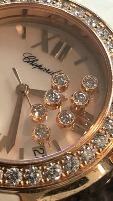 Chopard - happy sport diamond rose goud 18k - 13500 - 中性 - 2011至今