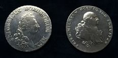Germany, Prussia - thaler 1785-A and 1790-B (2 pieces)
