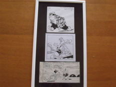 Carpi, Giovan Battista - 3x framed original illustrations