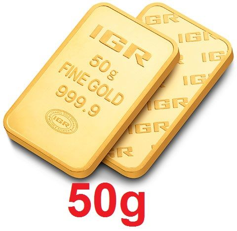 50 Gr Sealed Fine 24 Ct Bullion Gold Bar *** Low Reserve Price  ***