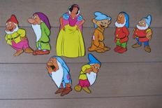 Walt Disney Productions - 8 Displays - Snow White and the Seven Dwarfs (1970s)