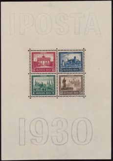 German Reich - 1930 - 'block issue IPOSTA Berlin' - Michel block 1 with Bühler photo attest