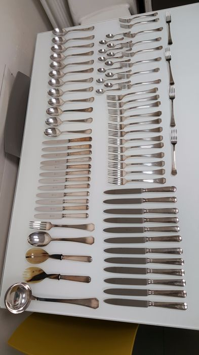 800 silver cutlery, signed by Schiavon. Treviso (Italy), 1999