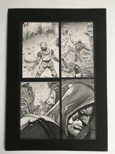 Simon Bisley - Original Art Page - Pencil, Pen & Ink - Tower Chronicles Vol 2 #1 - Page 21 - (2014)