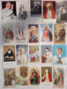 Interesting lot of 160 holy cards of different kind and series