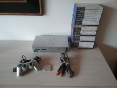 Complete PS2 Console with 25 PS2 Games (Good as New)