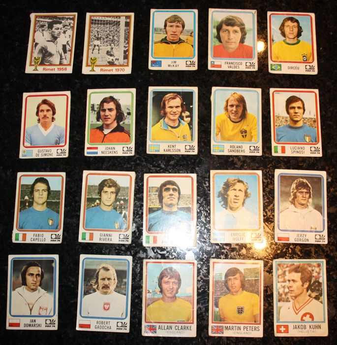 Panini - FIFA World Cup 1974 West Germany - 20 original stickers