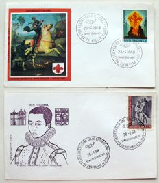 World – FDC, letters, postal cards, postal stationary etc.