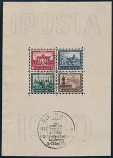 German Reich - 1930 - 'block issue IPOSTA Berlin' - Michel block 1 verified Schlegel BPP