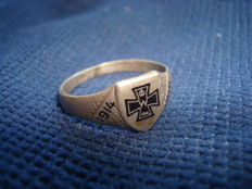 German military ring, silver (800) Imperial WW1