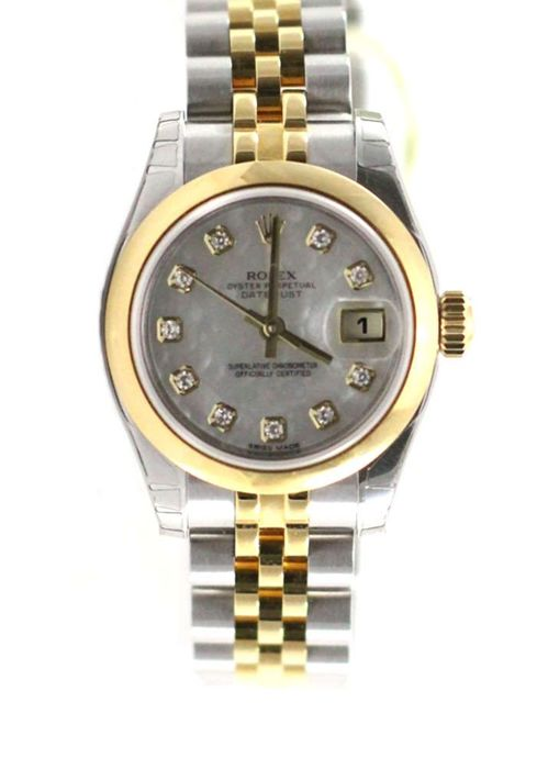 Rolex - Oyster Perpetual Datejust 26mm jubilee diamond - 179163 - Mujer - 2015