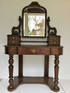 A mahogany vanity table, early 20th century