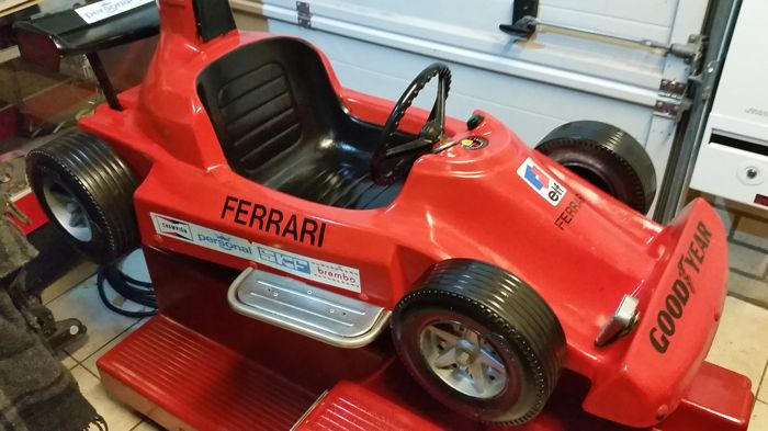 formula 1 ferrari kiddy ride michael schumacher works great for children catawiki. Black Bedroom Furniture Sets. Home Design Ideas