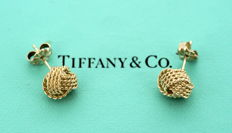 Tiffany & Co - Vintage Sterling Silver Ladies Stud Earrings, Circa.1995