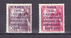 Spain 1950 - Caudillo's visit to the Canary Islands - Edifil 1088-1089