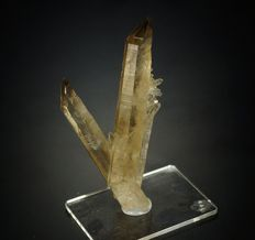 Smoky Quartz crystal combination from second quartz find in this wuarry in history - 7,3 x 3,5 x 2,2 cm - 28 gm