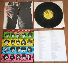 The Rolling Stones- Great lot of 2 classic albums, both in Andy Warhol sleeves: Sticky Fingers (Dutch pressing in German zipper sleeve) & Some Girls (Dutch pressing w. printed inner sleeve & insert)