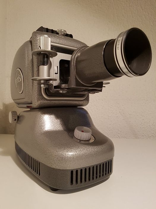 Decorative Noris Trumpf 300 slide projector with accessories. Germany, 1960s