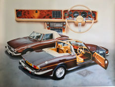 1976 Triumph Stag Print Steve Fermor Limited Edition. Numbered