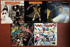 "Parliament/ George Clinton: lot of five lp's """"The clones of dr. Funkenstein"" ""Gloryhallastoopid"" ""Trombipolation"" ""The best of George Clinton"" ""Some of my best friends are jokes"""