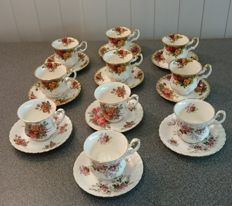 Royal Albert, 10 cups and saucers, various decoration, including Old Country Roses