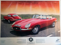 1961 Jaguar E Type Series1 Print Steve Fermor Limited Edition. Numbered