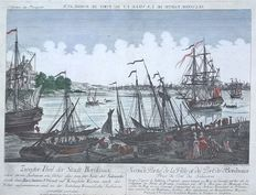 France, Bordeaux; Balt. Frédéric LeizelT - Seconde partie de la ville et du port de Bordeaux - 18th century