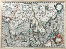 Asia, China; Mercator /Jodocus Hondius - India Orientalis - 1610