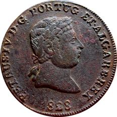 Monarchy of Portugal - D Pedro IV ( 1826-1828 ) - Pataco ( 40 reis ) - 1828 - Bronze
