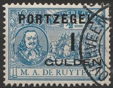 The Netherlands 1907 - Postage due stamp De Ruyter, with plate error - NVPH P43f
