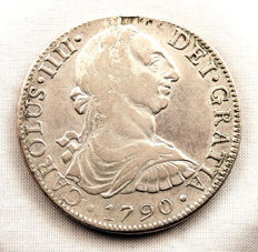 Spain - Carlos IV - Bust of Carlos III - 8 reales in silver - 1790 - Mexico