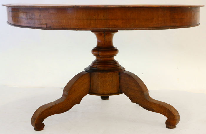 Mahogany Round Tea Table, Holland, 19th Century