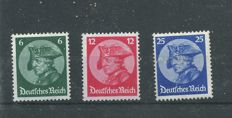 German Empire 1933/1936 - 4 series Michel 479-480, 540-543, 580-583, block 5 and 6Z with 1st day cancellation