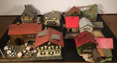 Faller/Pola H0 - B-226/B-230/B-298 - Water mill, Sawmill, large farmstead, terrace, farm and German houses