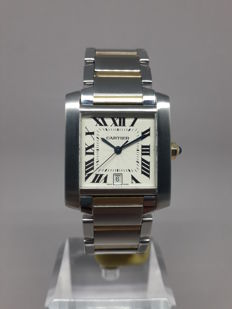 Cartier Tank Francaise Automatic Large Date- 2302- Mens Wristwatch
