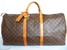 Louis Vuitton - Keepall 60 + LV accessories + LV padlock (304) with 2 keys - **No Minimum Price**