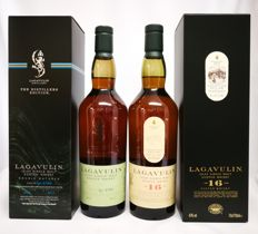 "2 bottles - Lagavulin Double Matured ""The Distllers Edition""  & Lagavulin 16 years old 43%"