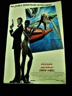 A View to a Kill US original 1 sheet Movie Poster 1985 James Bond 007 Roger Moore