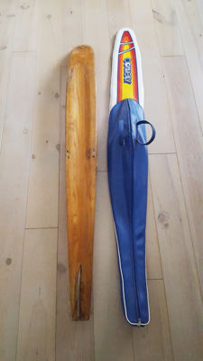 Wooden Mesle single water ski