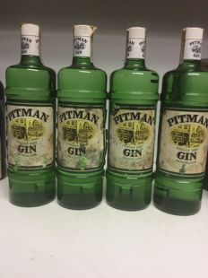 1970s Pitman Gin, Spain - 4 bottles 1L 40% Vol