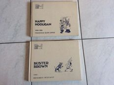 Buster Brown & Happy Hooligan - Classic American Comic Strips - 2 x deluxe - reprint (1st edition in this form) 1977