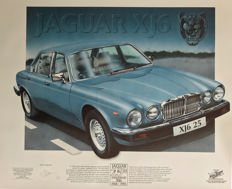 Jaguar  XJ6 Print Steve Fermor Limited Edition. Numbered
