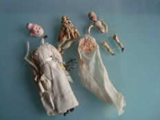 2 Mignonettes + Communion doll branded 13/0, France