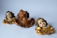 Woodcarvings putti angel head from Austria / Italy (3)