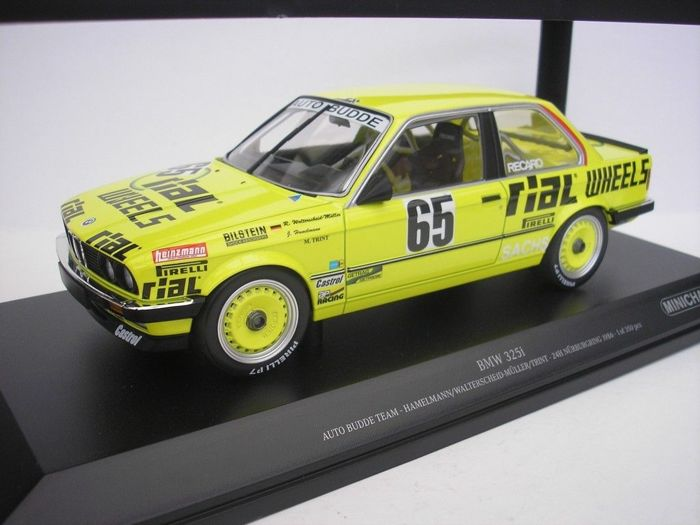 minichamps scale 1 18 bmw e30 325i coupe auto budde team rial wheels 1986 catawiki. Black Bedroom Furniture Sets. Home Design Ideas