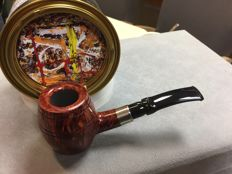 Handmade tobacco pipe Poul Winslow Whisky Barrel