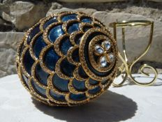 Fabergé Imperial egg - Enamel - Swarovski rhinestones (over 800) - 24K Gold finish - Signed - Numbered