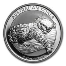 "Australia 1 Dollar 2012 ""Koala"" 1 oz 999 Silver Proof Coin"