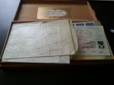 Federal Republic of Germany 1960/1980 - batch of sheet parts in bags in cigar box