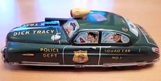 Marx, USA - Length 28 cm - Tin friction sparkling Dick Tracy Squad Car, 1940/50s